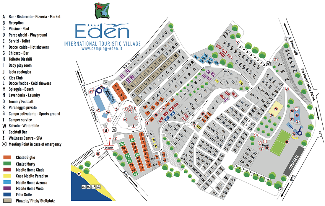 Mappa | Camping Eden