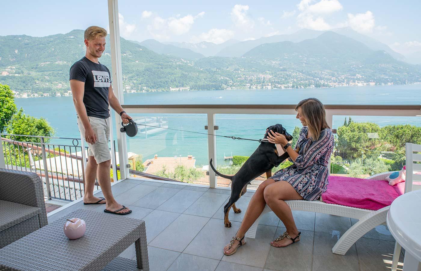 vacanza cane lago garda